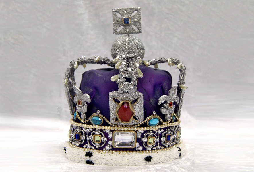 crown cake topper royal jubilee crown totally sugar 3196